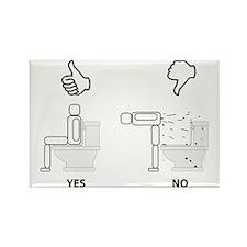 Proper Toilet Usage Rectangle Magnet