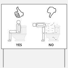 Bathroom Sign Yes No bathroom yard signs | custom yard & lawn signs - cafepress