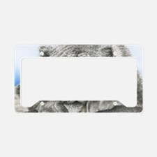 Snow Leopard Pillow Case License Plate Holder
