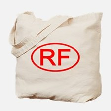 RF Oval (Red) Tote Bag