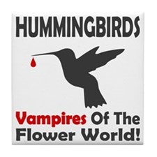 Hummingbirds Vampires Tile Coaster