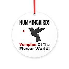 Hummingbirds Vampires Round Ornament