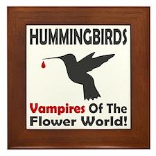 Hummingbirds Vampires Framed Tile