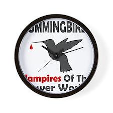 Hummingbirds Vampires Wall Clock