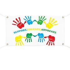 Autism hand Banner