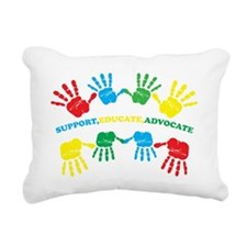 Autism hand Rectangular Canvas Pillow