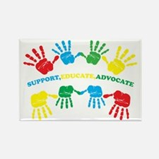 Autism hand Rectangle Magnet