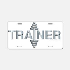 TRAINER -- Fit Metal Design Aluminum License Plate
