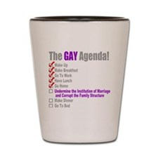 Gay Agenda Marriage Shot Glass
