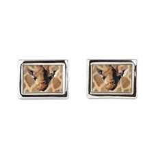 Giraffe Womens all over design - Front Cufflinks