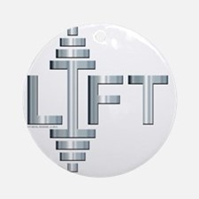LIFT -- Fit Metal Designs Round Ornament