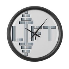 LIFT -- Fit Metal Designs Large Wall Clock