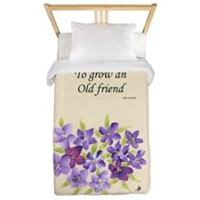 Poetry of an Old Friend Twin Duvet