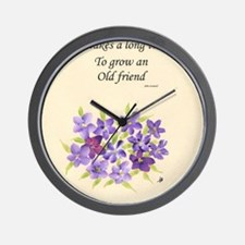 Poetry of an Old Friend Wall Clock