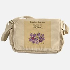 Poetry of an Old Friend Messenger Bag