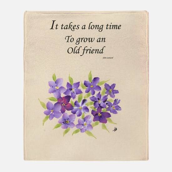 Poetry of an Old Friend Throw Blanket