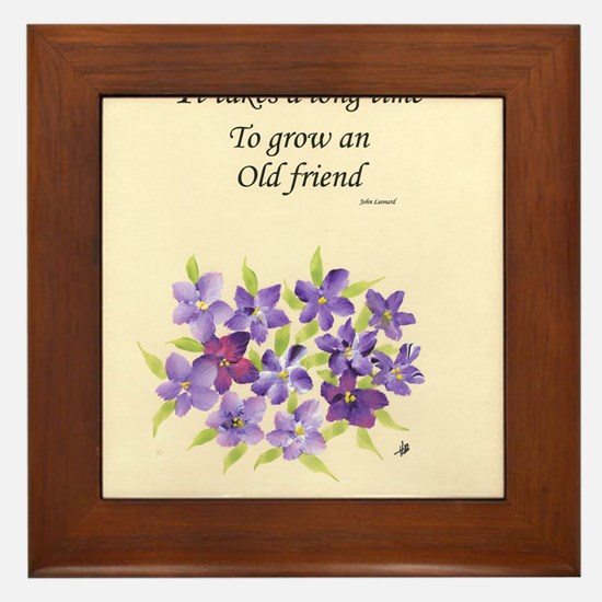 Poetry of an Old Friend Framed Tile