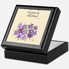 Poetry of an Old Friend Keepsake Box