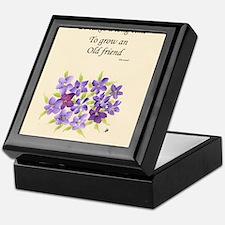 Poetry of an Old Friend Keepsake Box