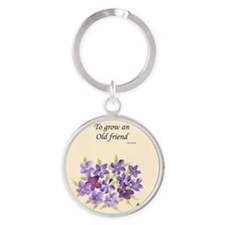 Poetry of an Old Friend Round Keychain