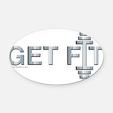 GET FIT -- Fit Metal Designs Oval Car Magnet