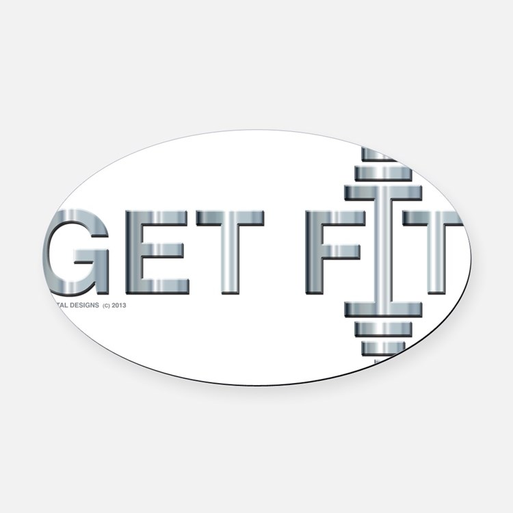 GET FIT -- Fit Metal Designs Oval Car Magnet