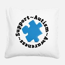 Support Autism Square Canvas Pillow
