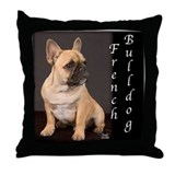 French bulldogs Throw Pillows