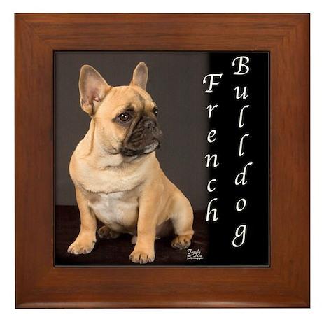 French Bulldog Puppy Framed Tile