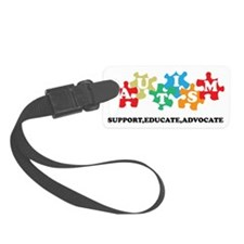 Support Autism Luggage Tag