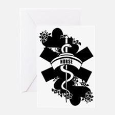 Nurse Heart Tattoo Greeting Card
