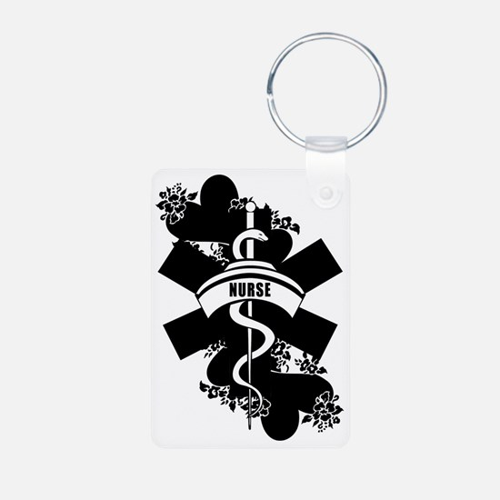 Nurse Heart Tattoo Keychains