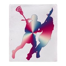 Lacrosse Red White and Blue Throw Blanket