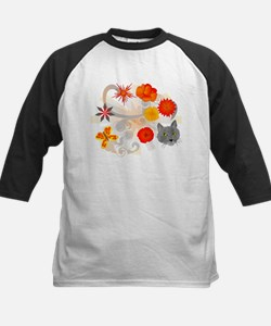 Abstract Floral & Cat Tee