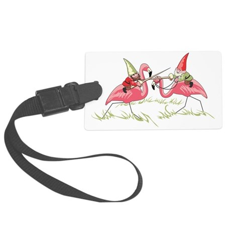 Gnomes Large Luggage Tag