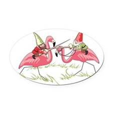 Gnomes Oval Car Magnet
