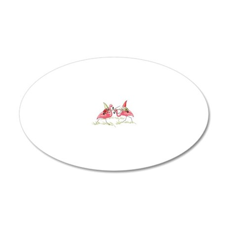 Gnomes 20x12 Oval Wall Decal