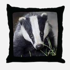 Cute Badger Throw Pillow