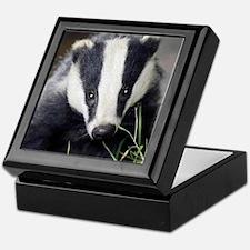 Cute Badger Keepsake Box