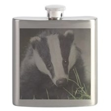 Cute Badger Flask