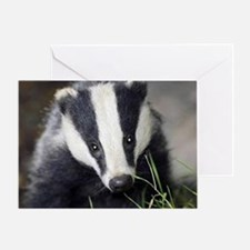 Cute Badger Greeting Card