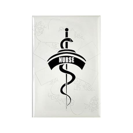 Nurse Heart Tattoo Rectangle Magnet