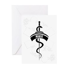 Nurse Heart Tattoo Greeting Card