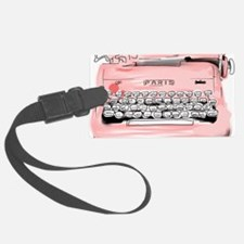 Paris Typewriter  Luggage Tag