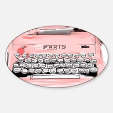 Paris Typewriter  Sticker (Oval)