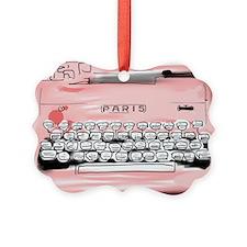 Paris Typewriter  Ornament