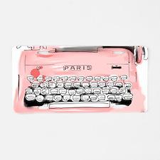 Paris Typewriter  Aluminum License Plate