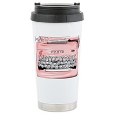 Paris Typewriter  Travel Mug