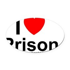 Prison Oval Car Magnet