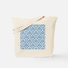 Dusk Blue Damask Tote Bag